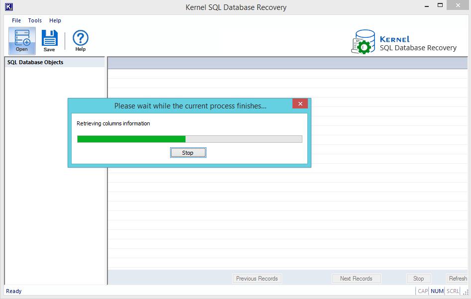 retrieve data from database files