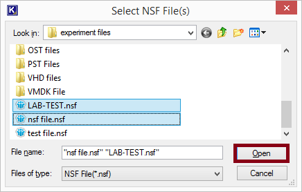 Select NSF file and Open