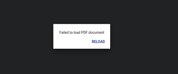 Failed to Load