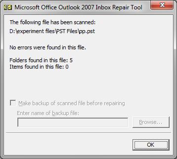 repair Outlook inbox