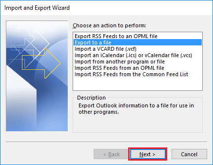Import/Export Emails from MBOX to PST