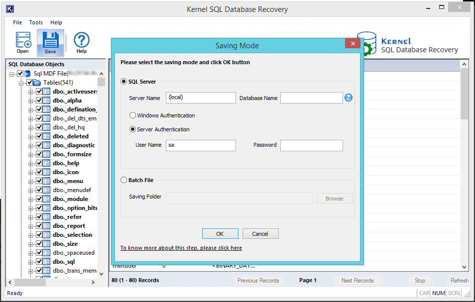 choose saving modes