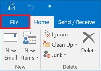 Start Outlook application