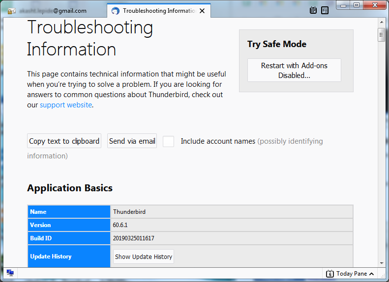 Select Help & Troubleshooting Information