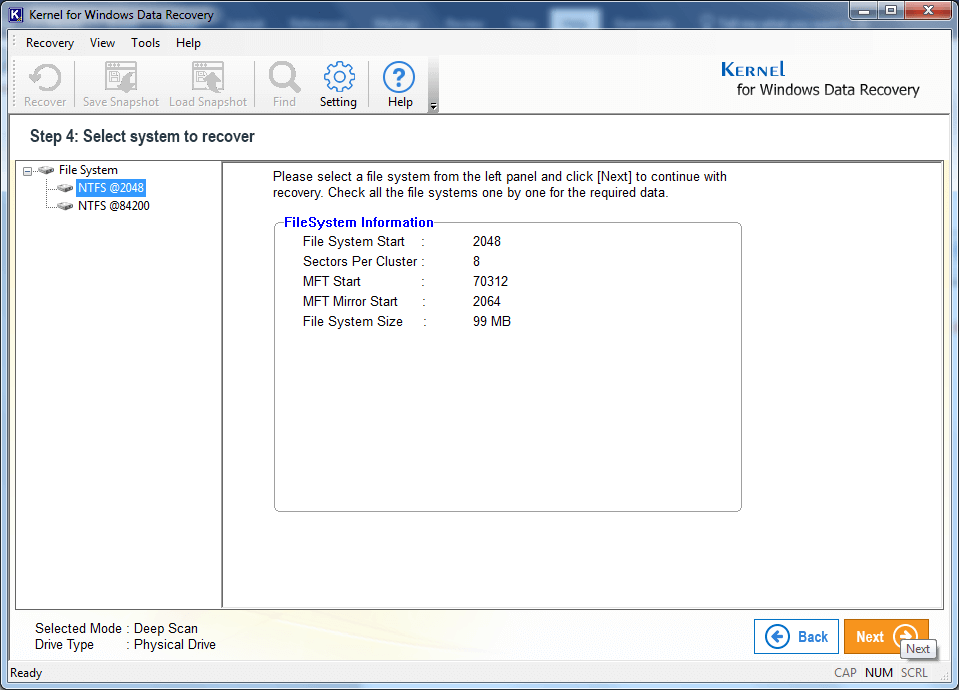 Select a File System