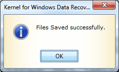 Recovered files saved successfully