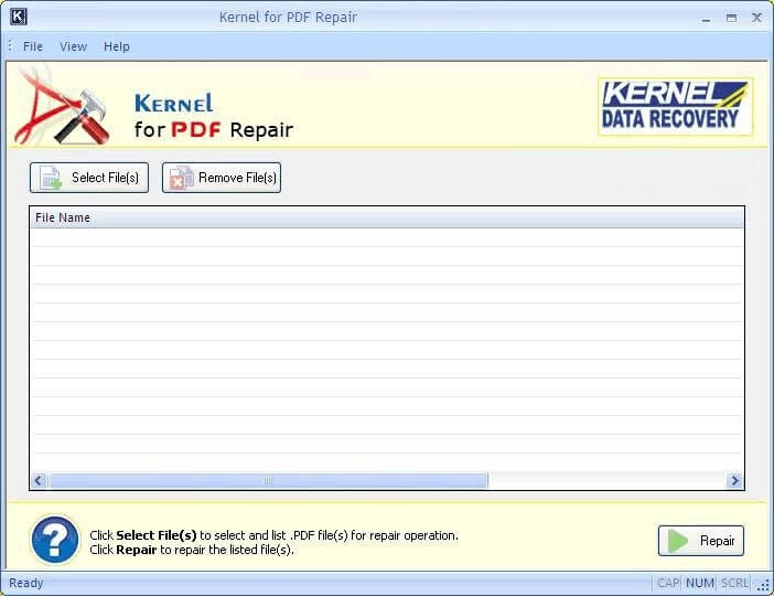 PDF file repair tool