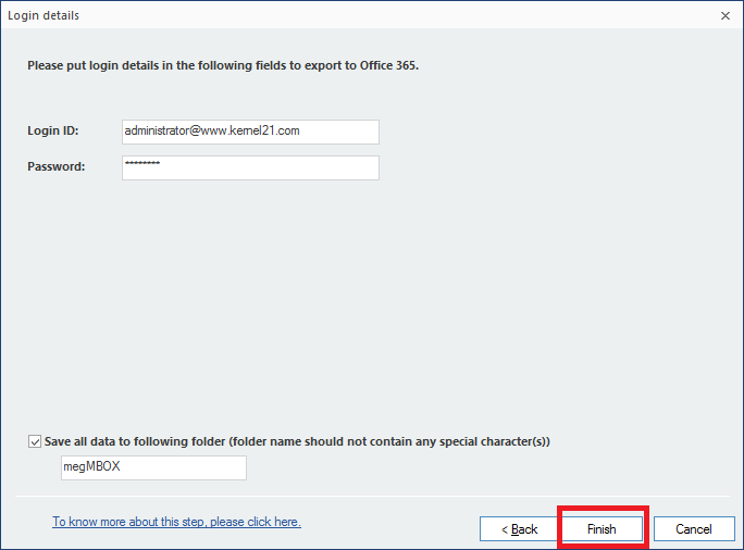Save your MBOX files to Office 365, IBM Domino and GroupWise