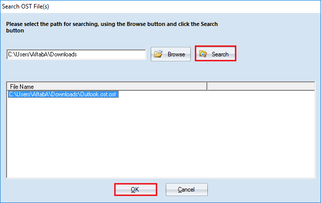Source File Selection