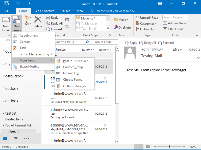 Pst Files In Outlook