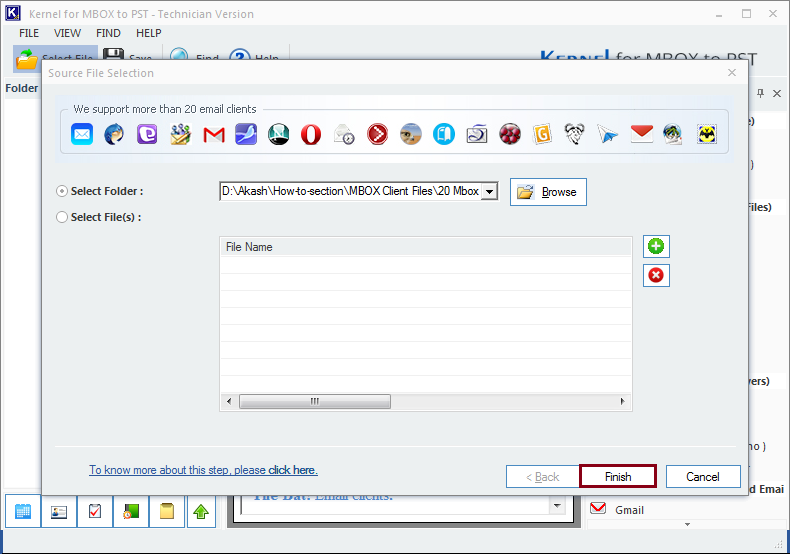 Proceed for MBOX to PST conversion