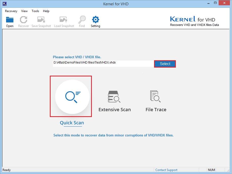 Select damaged file to repair