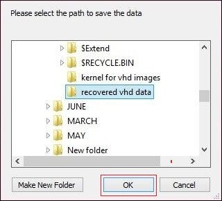 Select a location to save files