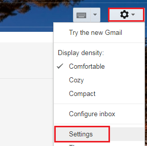 Click on Gear icon and then select Settings