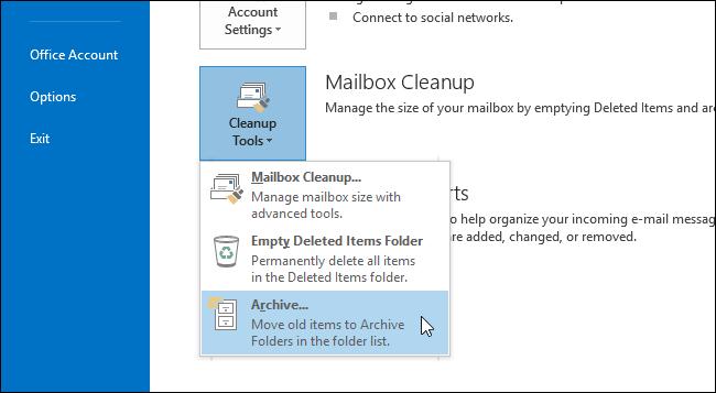 Choose Cleanup Tools