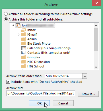 Select the location to save file