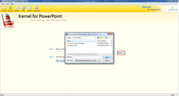 Select PowerPoint File