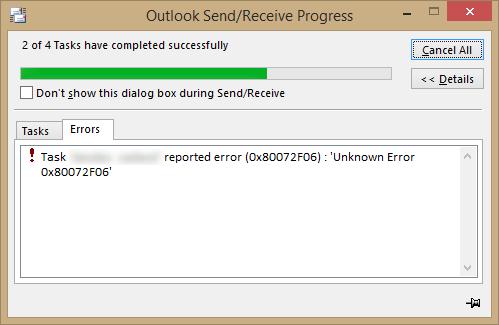 error 0X80072f06