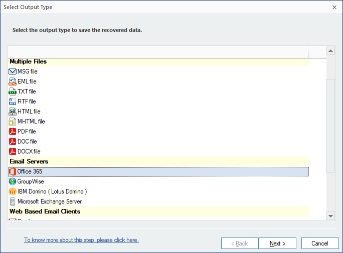export emails and items to Office 365