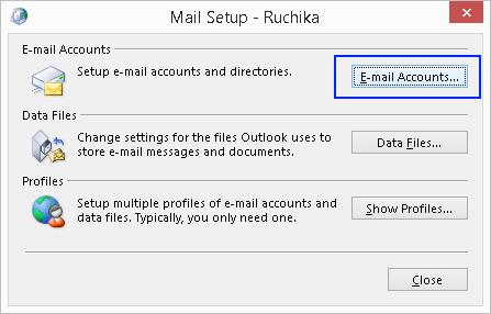 Click Email Accounts