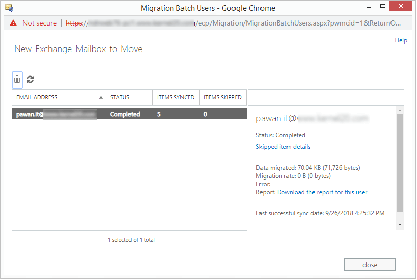 download the report for the user
