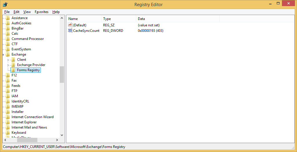 Find the appropriate registry path according to your Outlook version