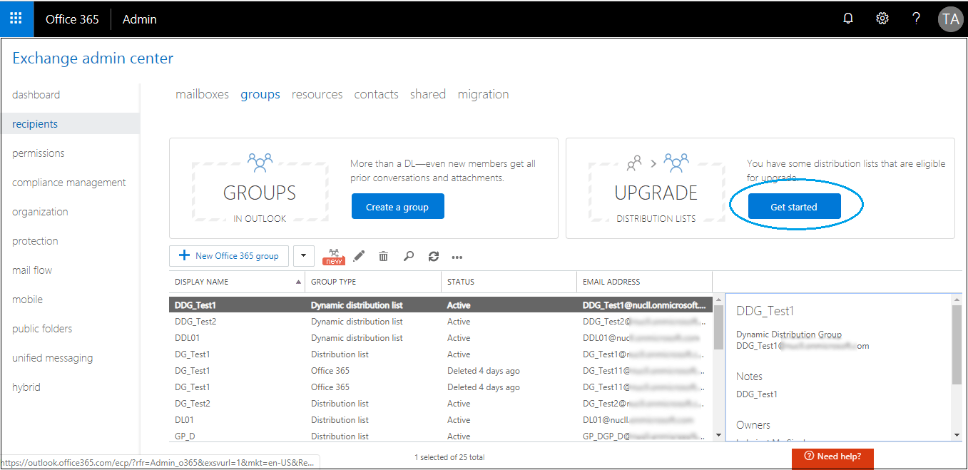 Open Exchange Admin Center