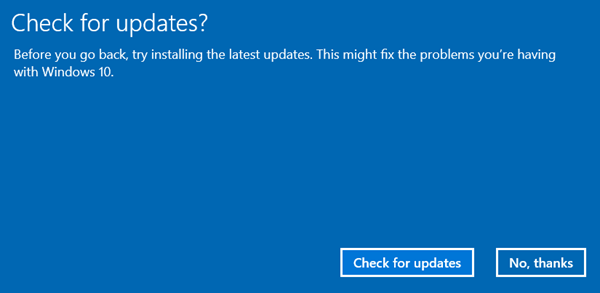 Uninstall Windows 10 October Update
