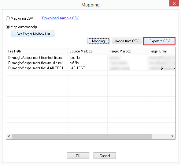 Mapping NSF file with Exchange online done