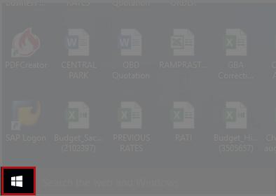 Click on Windows icon