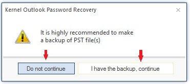 backup PST file