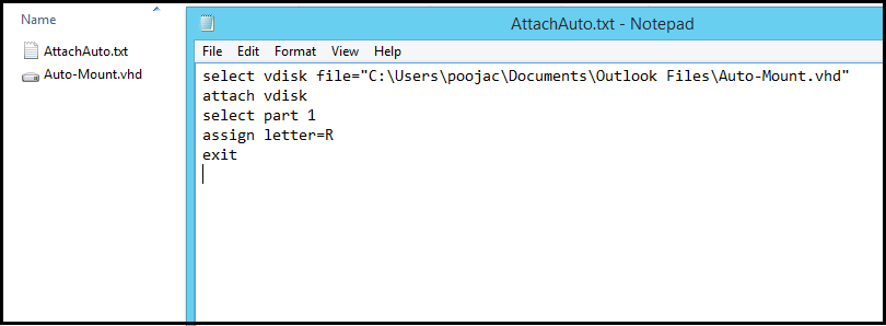 Auto-Mount a VHD/VHDX File at Startup in Windows 10 & 8 1