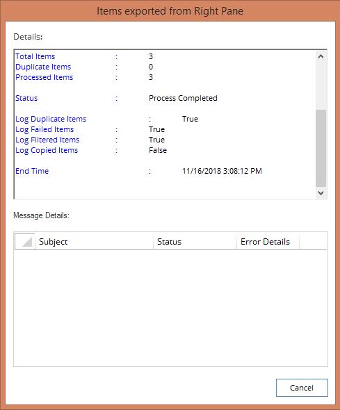 Export details list