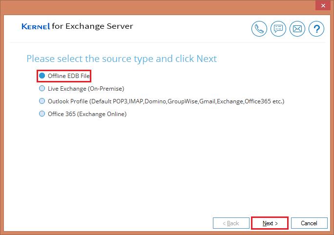 Select EDB file