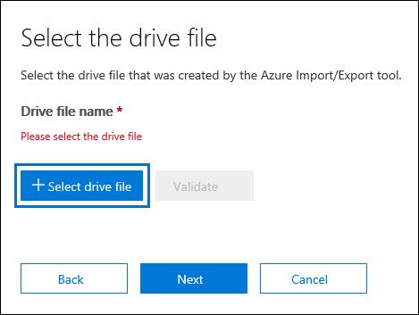 Select drive file