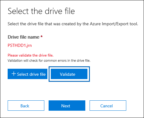 check your drive file for errors