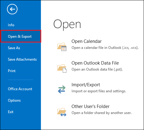 Start the Outlook application