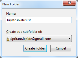 Create new folder in Thunderbird