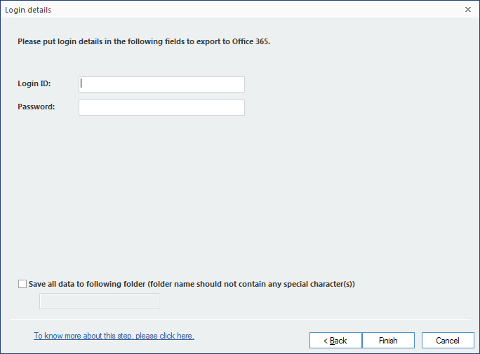 Input the Office 365 credentials