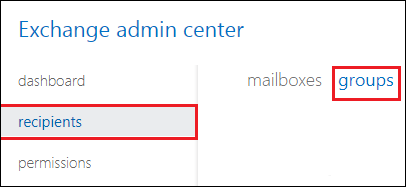select group tab in recipients