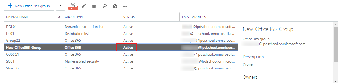 active status display