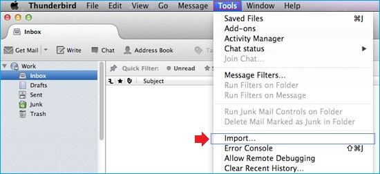 Import MBOX on MAC