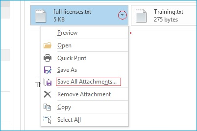 save all attachments file