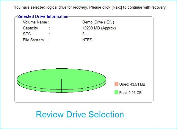 selected the right drive or storage media