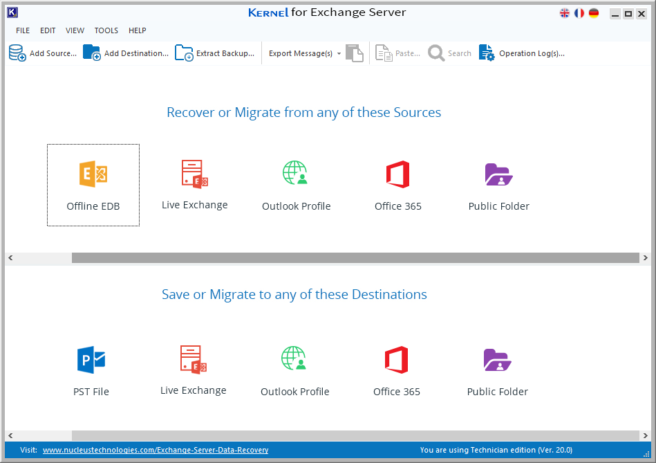 Kernel for Exchange Server software