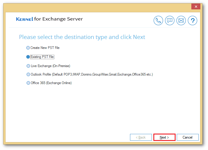 add an existing PST file