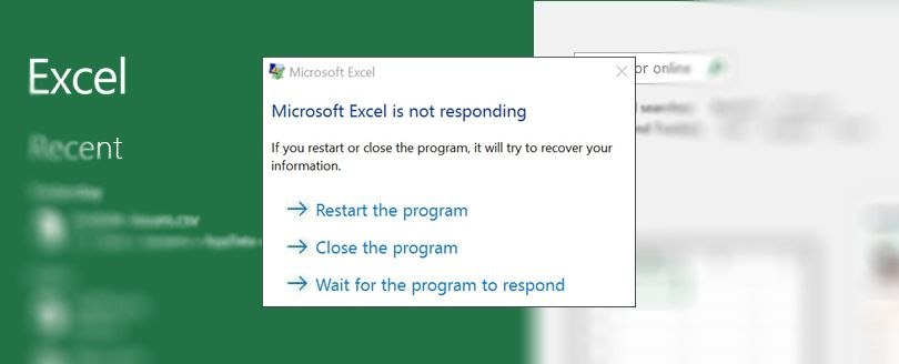 How to Fix Microsoft Excel is Not Responding Error in Excel