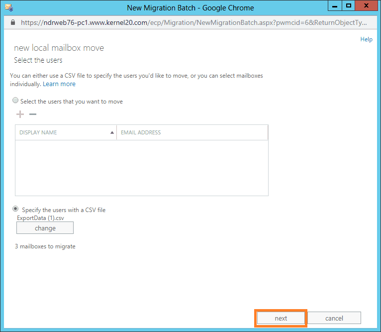 CSV file is added