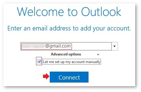 input your Gmail email address