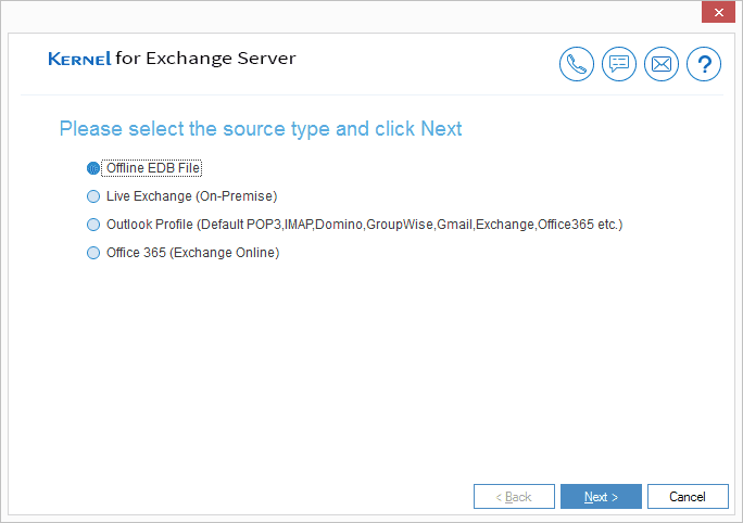 Select Offline EDB as source